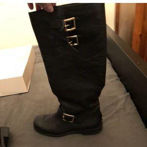 Black jimmy chop boots